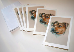Greeting cards on your pet portrait
